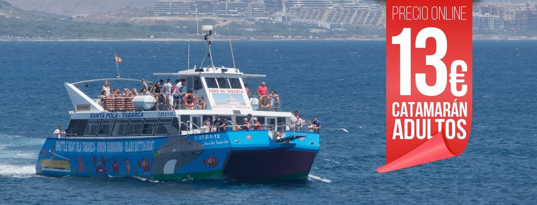 Ticket Catamaran Adulto Viaje Excursión Isla tabarca desde Santa Pola