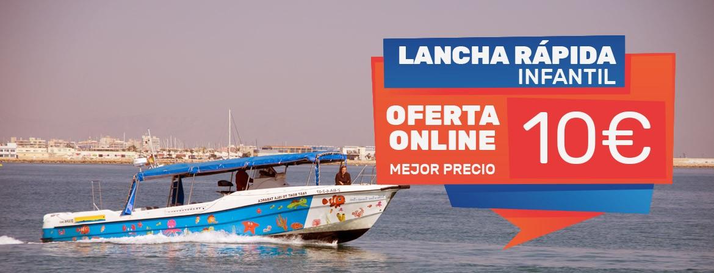 Ticket Lancha Rápida Niños Viaje Excursión Isla tabarca desde Santa Pola