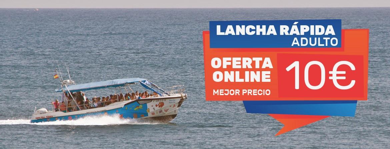 Ticket Lancha Rápida Adultos Viaje Excursión Isla tabarca desde Santa Pola
