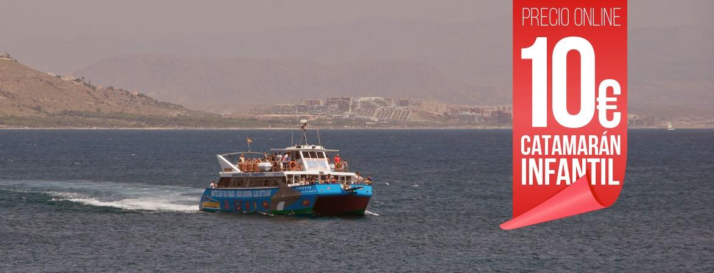 Ticket Catamaran Niños Viaje Excursión Isla tabarca desde Santa Pola